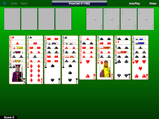 Unsolvable FreeCell Game #11982