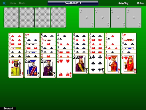 Difficult FreeCell Game #617